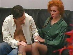 Hairy, MILF, Redhead, Stockings, Vintage
