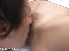 Asian, Blowjob, Cumshot, Hairy, Mature