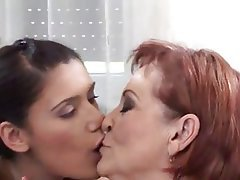 Group Sex, Lesbian, Old and Young