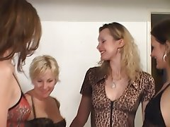 Lesbian, Blonde, Brunette, Group Sex