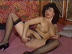 Hairy, Masturbation, Stockings, Vintage